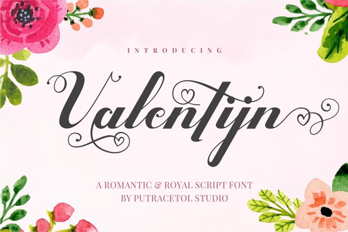 Valentijn Font poster