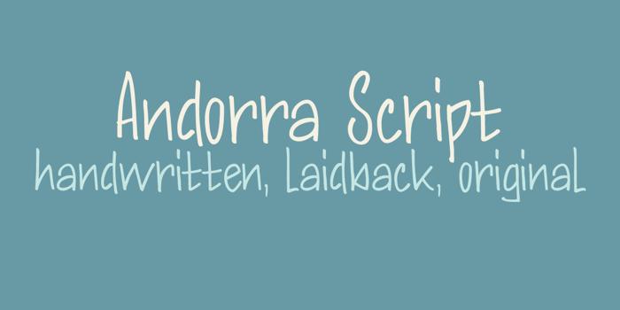 DK Andorra Script Font poster