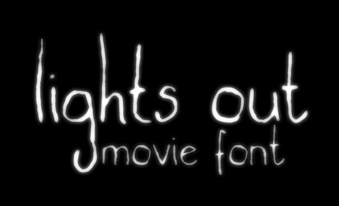 lights out Font poster