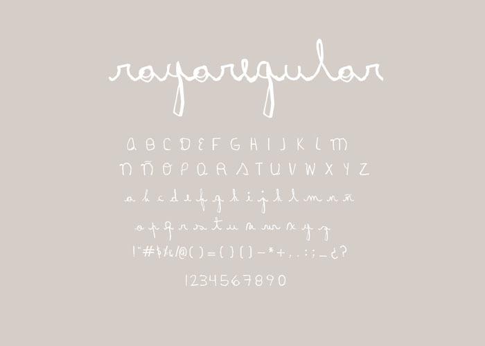 Rayairregular Font poster