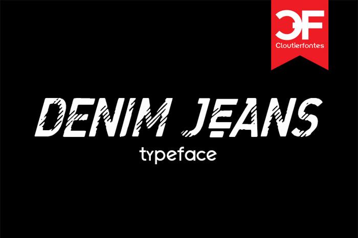 CF Denim Jeans Font poster