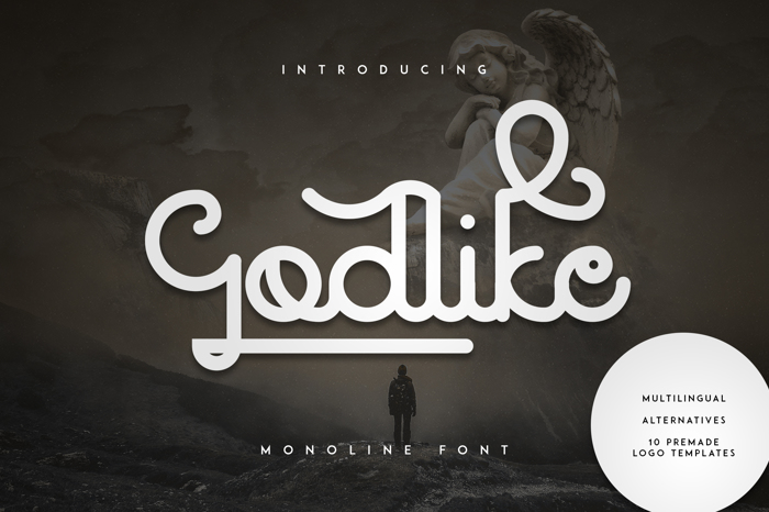 Godlike Font poster