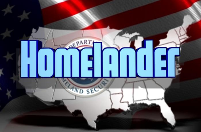 Homelander Font poster