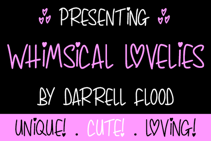 Whimsical Lovelies Font poster