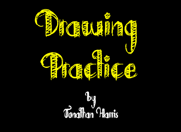 Drawing Practice Font poster