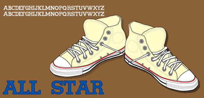 All star Font poster