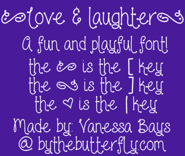 Love and laughter Font poster