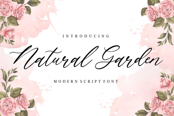 Natural Garden Font poster