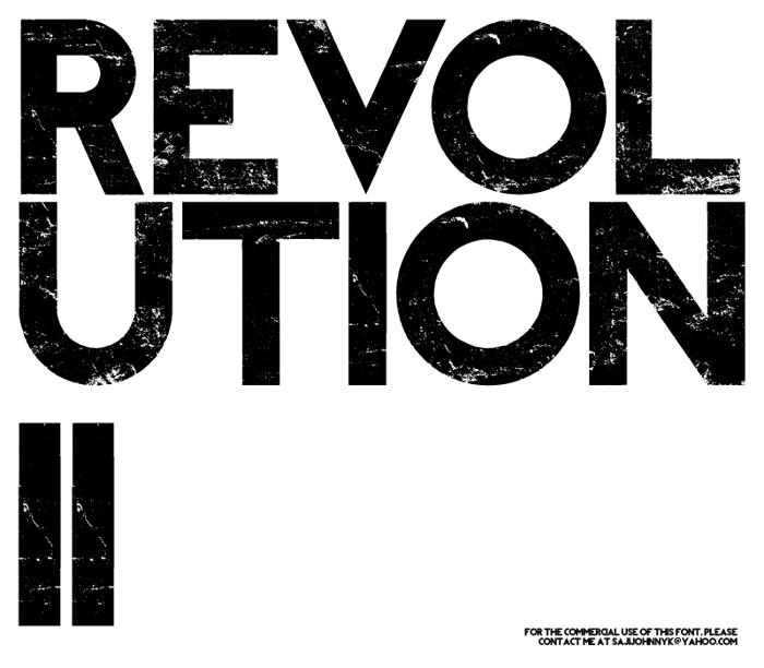 REVOLUTION II Font