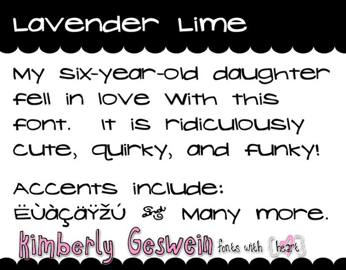 Lavender Lime Font poster