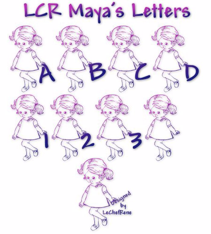 LCR Maya's Letters Font poster