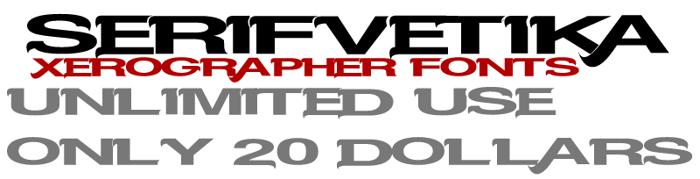 Serifvetika Font poster