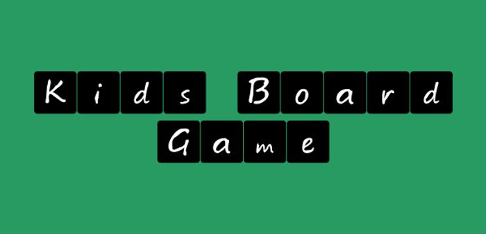 Kids board game Font poster