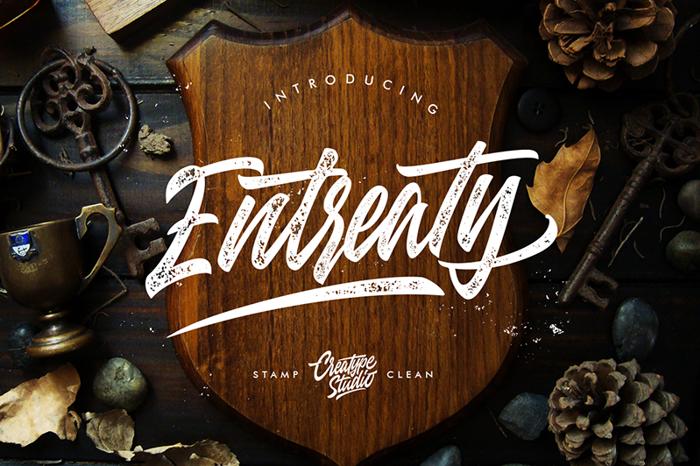 Entreaty Font poster