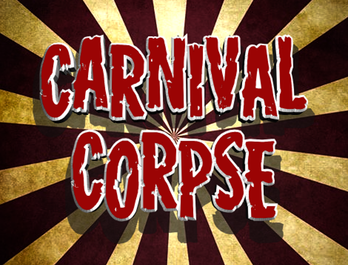 Carnival Corpse Font poster