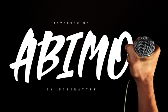 ABIMO Font poster
