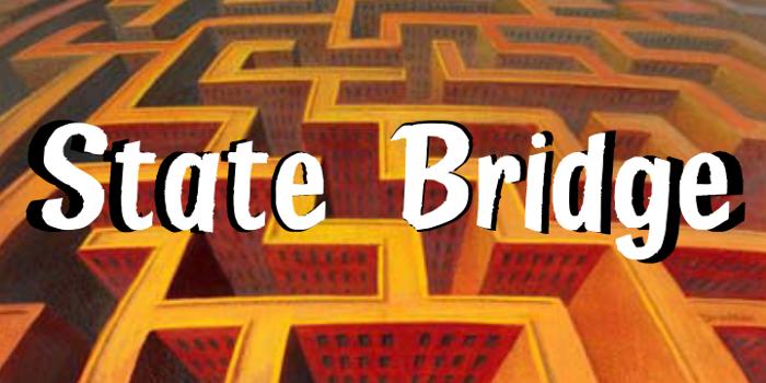 State Bridge Font poster