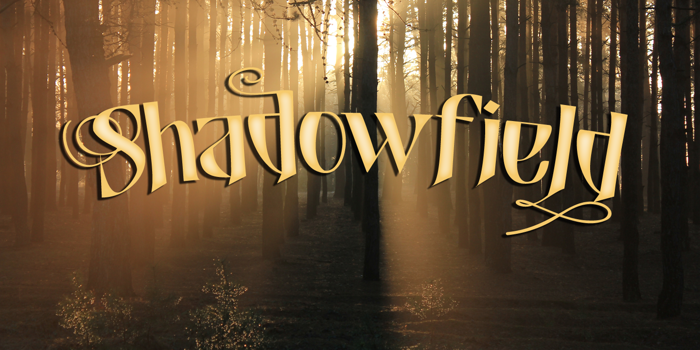 Shadowfield DEMO Font poster