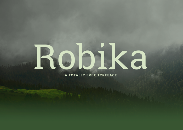 Robika Font poster