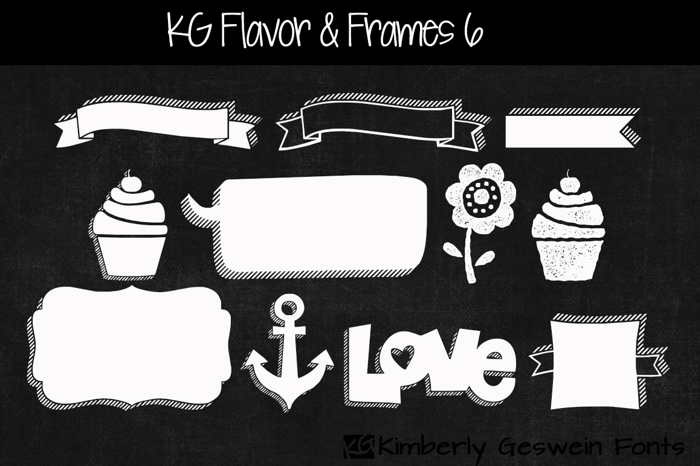 KG Flavor And Frames Six Font poster
