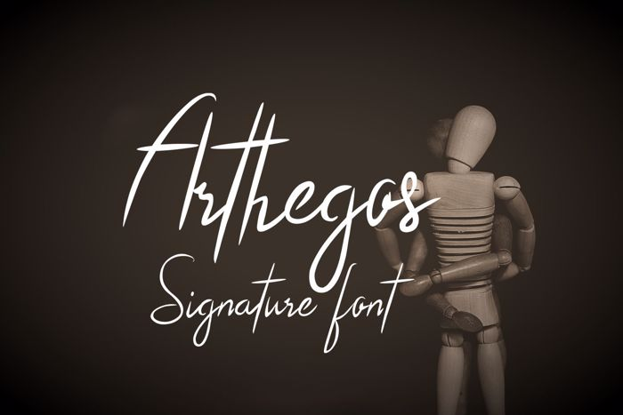 Arthegos Font poster