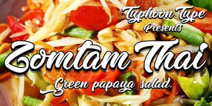 Zomtam Thai Font poster