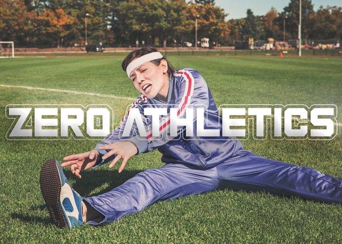 Zero Athletics Font poster