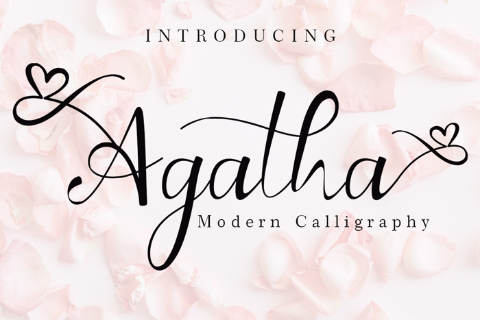 Agatha Font poster