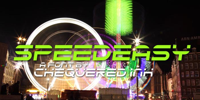 Speedeasy Font poster