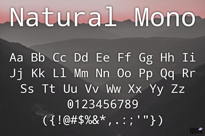 Natural Mono Font poster