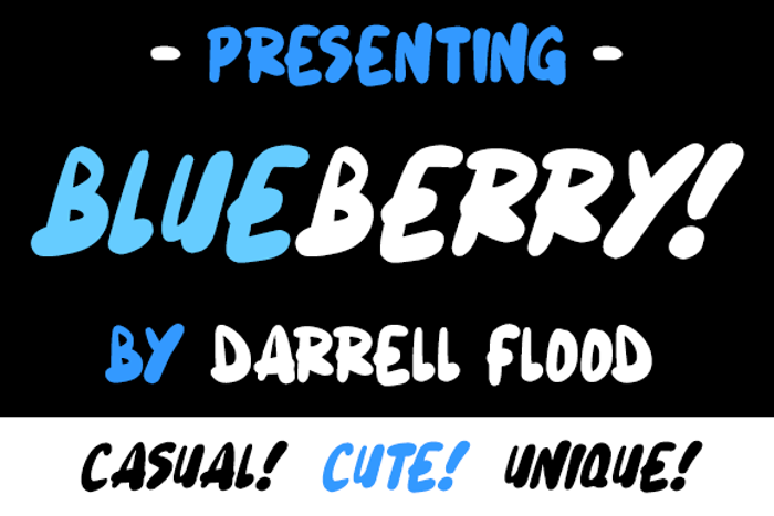 Blueberry Font poster