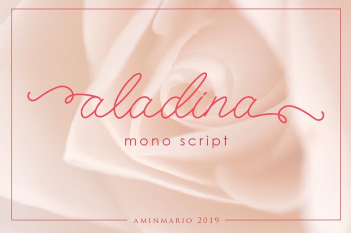 aladina Font poster