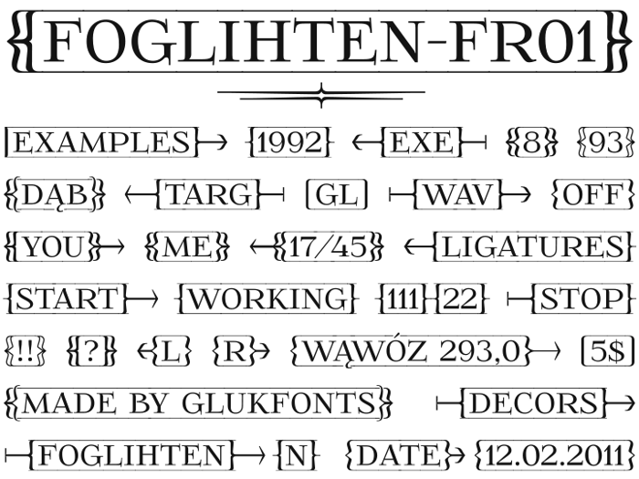 FoglihtenFr01 Font poster