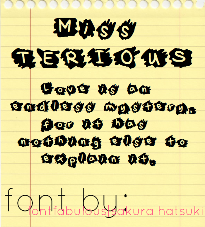 MissTerious Font poster
