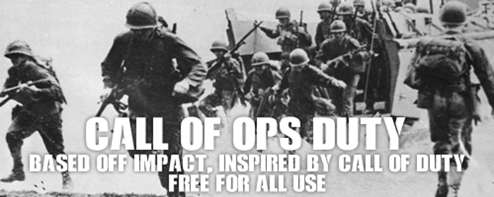 Call Of Ops Duty Font poster