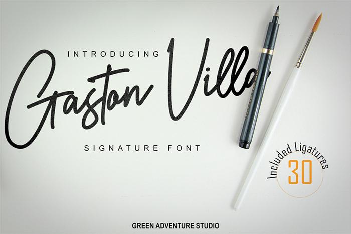 Gaston Villa Font poster