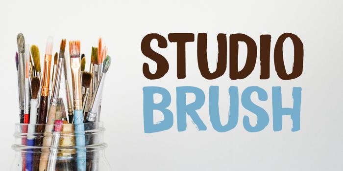 Studio Brush DEMO Font poster