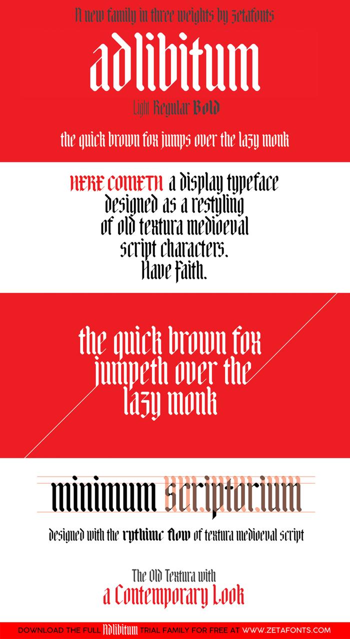 Adlibitum Font poster