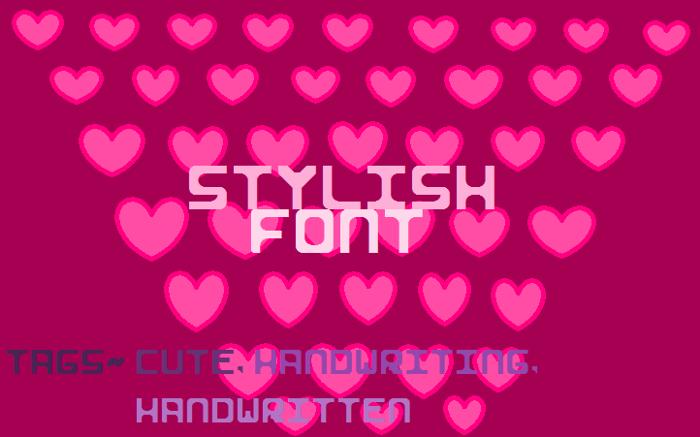 Stylish I Font poster