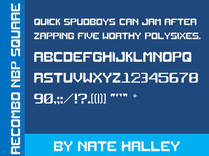 Recombo NBP Square Font poster