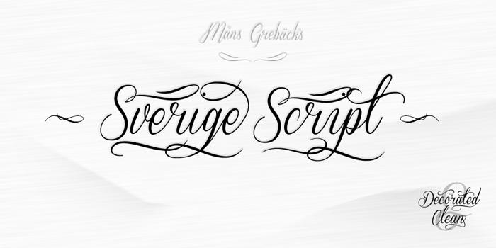 Sverige Script Font poster