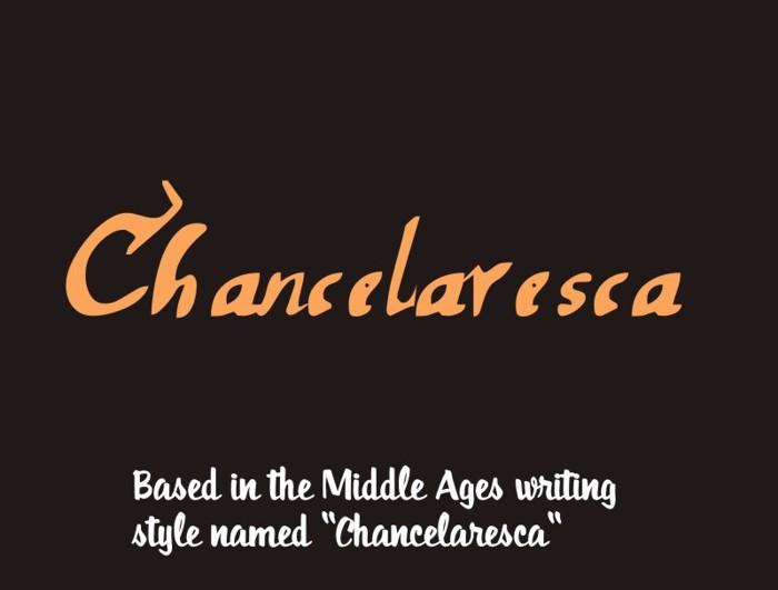 chancelaresca Font poster