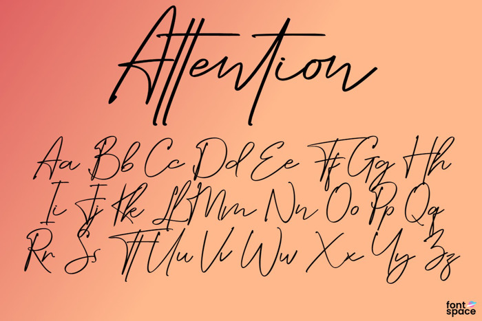 Attention Font poster