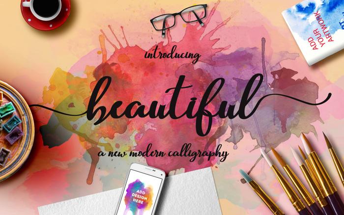 Beautiful Script Font poster