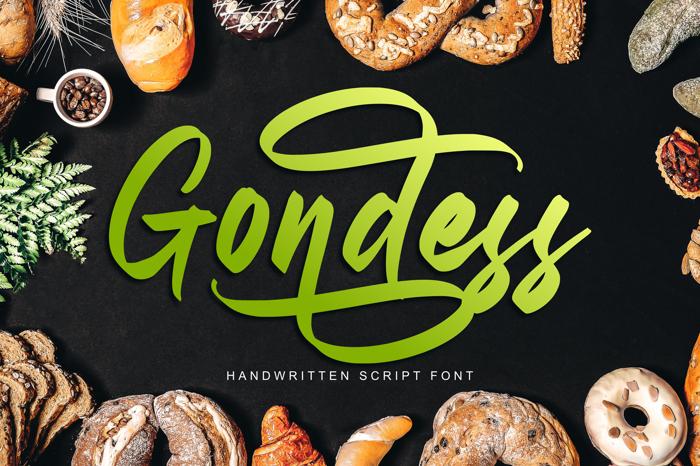 Gondess Font poster