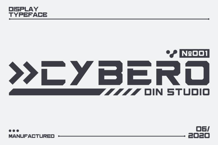 cybero Font poster