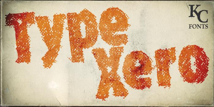 Type Xero Font poster