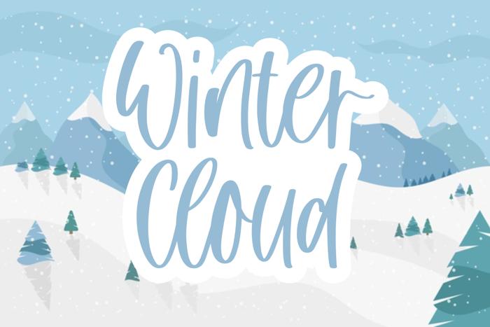 Winter Cloud Font poster