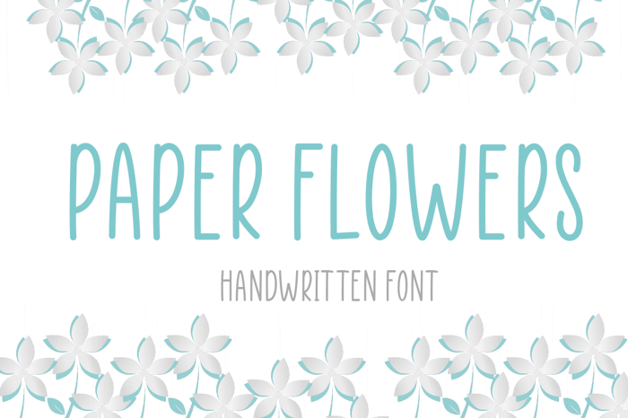 Paper Flowers Font poster