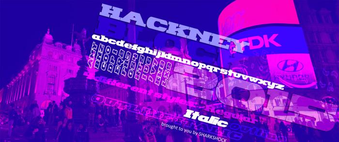 Hackney Block Font poster